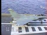 Essais du Rafale Porte Avions Foch 1994