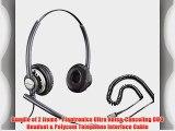 Polycom Compatible Plantronics VoIP Ultra Noise Canceling DUO Headset Bundle | SoundPoint?
