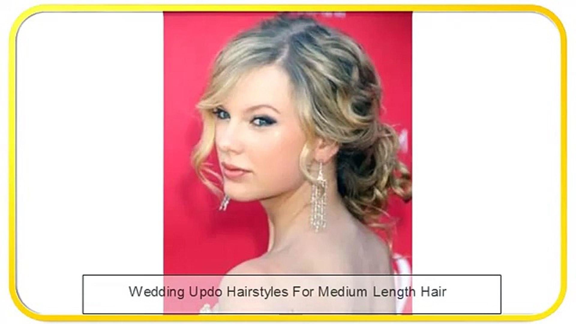 Wedding Updo Hairstyles For Medium Length Hair Video Dailymotion