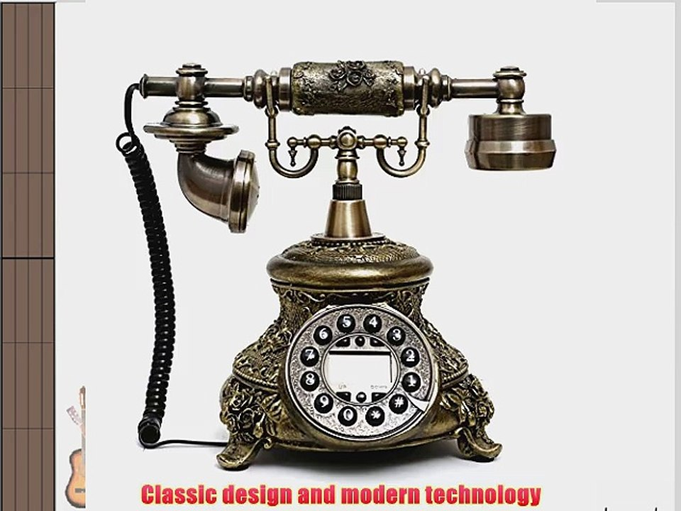 European Style Bronze Antique Telephone Rotary Dial Desk Phone Home Decor Gift
