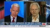 Julian Assange on Edward Snowden, NSA Leaks & Bradley Manning - AC360 06/10/2013