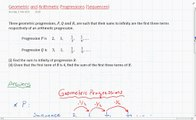 Geometric and Arithmetic Progressions (Sequences)