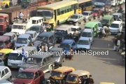 Traffic Jam-Amazing Traffic Stop road cross by cycle and bikes- India driving and traffic management