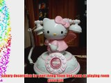 New Antique Angel Winged Hello Kitty Telephone Desk Corded table home phone Wired Phone