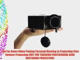Aketek UC28 24W PRO Portable HDMI Mini Home LED Projector 60 Cinema Theater-Black