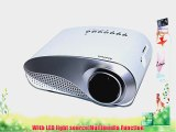 AbdTech Led Mini Projector Home Theater Support hdmi HD Video Games TV Movie TXT Music Pocket