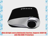 Abdtech portable LED Mini Projector Fashionable Home Theater Support 1080p for Video Games
