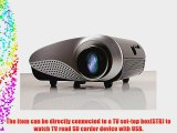 Aketek Support 1080P LED Mini Projector Fashionable Home Theater for Video Games TV Movie TXT