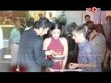 Ranbir Kapoor, Anushka Sharma and Karan Johar at the special screening of Movie 'Bombay Velvet'