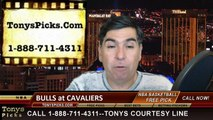 Cleveland Cavaliers vs. Chicago Bulls Free Pick Prediction NBA Pro Basketball Playoffs Game 1 Point Spread Odds Preview