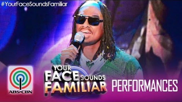 """Your Face Sounds Familiar: Jay R as Stevie Wonder - """"I Just Called To Say I Love You"""""""