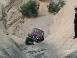 Jeep CJ7 on Hells gate on hells revenge moab