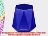 Merkury HEXAGON Portable Wireless Bluetooth Speaker with 5 hour Rechargeable Battery (Metallic