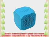 MQbix MQBK3010BLU MUSICUBE Wireless Portable Bluetooth Speaker with Built-In Mic and Rechargeable