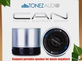 Tonez Audio Corp  CAN Portable Bluetooth Speaker Speakerphone (Quick Silver)