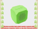 MQbix MQBK3010GRN MUSICUBE Wireless Portable Bluetooth Speaker with Built-In Mic for Bluetooth
