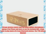 Wireless Bluetooth Stereo Speaker Clock Kit with Alarm Functions and LED Display by GOgroove