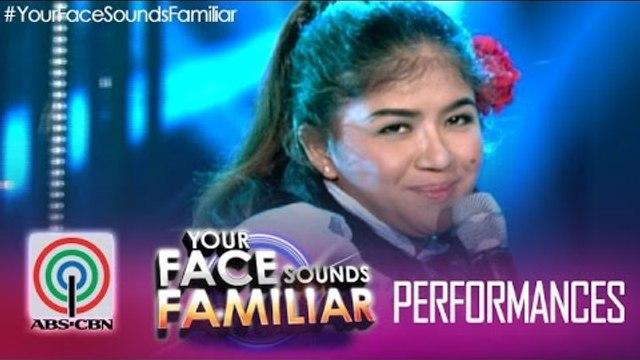 "Your Face Sounds Familiar: Melai Cantiveros as Nora Aunor - ""Pearly Shells"""