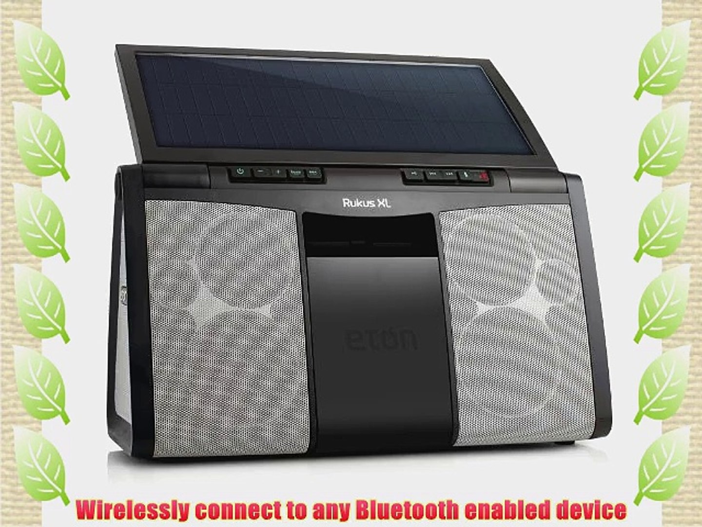 Eton Rugged Rukus All-Terrain Portable Solar Wireless Sound System Black