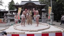 Sumo Wrestlers Make Newborns Wail for Naki Sumo Crying Festival