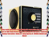 GOgroove BlueSYNC BX Rechargeable Bluetooth Wood Style Speaker with NFC Technology and Removable