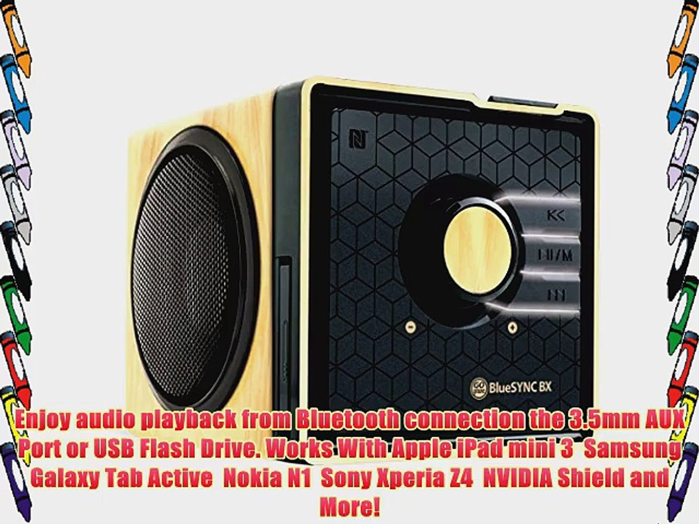 GOgroove BlueSYNC BX Rechargeable Bluetooth Wood Style