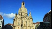 Die Dresdner Frauenkirche kurz vor dem Wiederaufbau und 21 Jahre später...