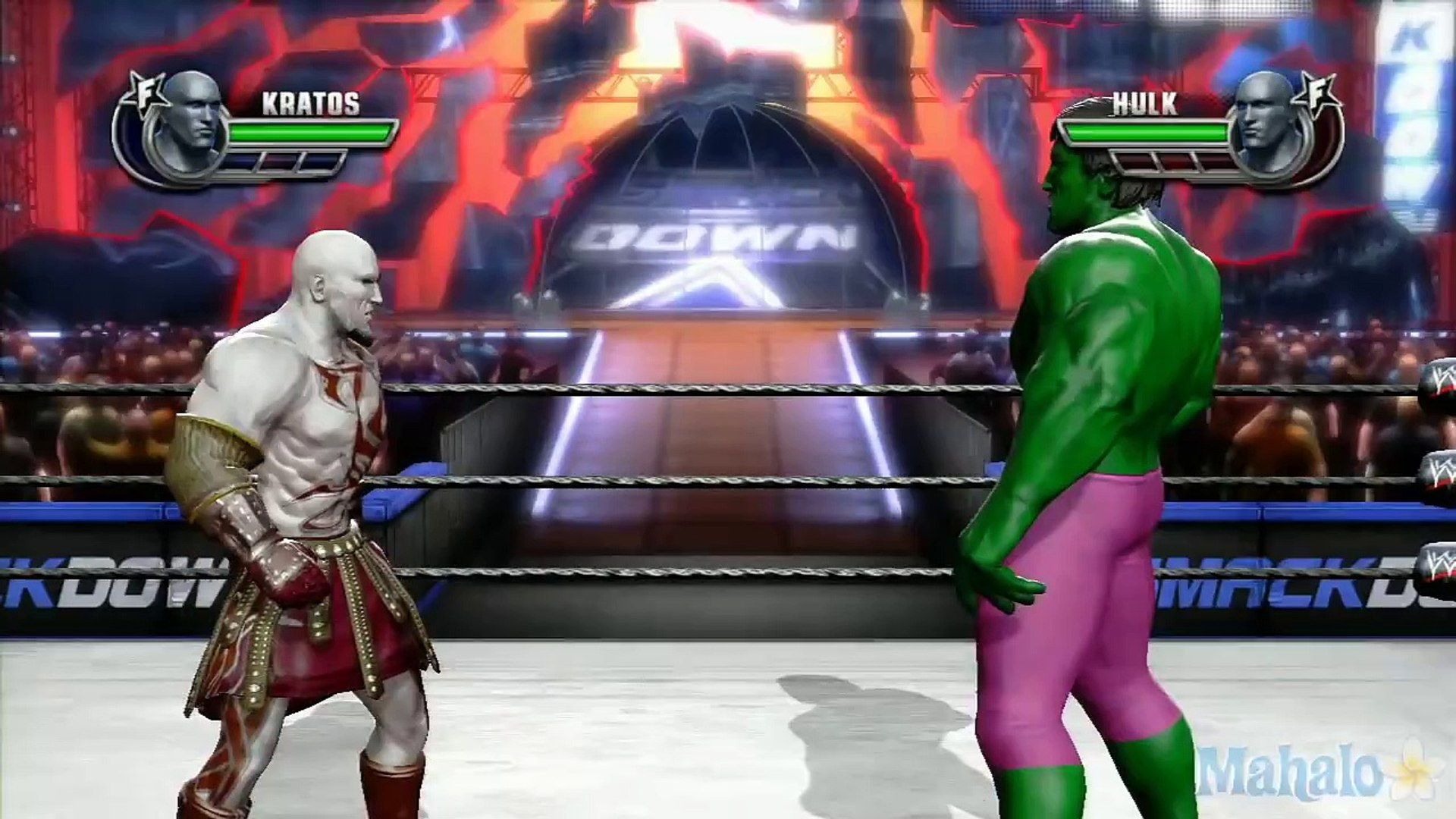 Wwe All Stars Grudge Match Kratos Vs The Hulk Video Dailymotion