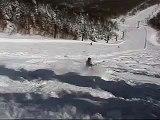 201203 奥志賀高原スキー(深雪の滑り=Deep Powder Skiing=).wmv