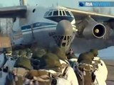 Russian army airborne troops parachuted BMD-2 armoured with crew inside Ria Novosti
