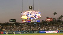 First Gay Kiss on Kiss Cam at Dodgers Stadium!