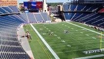 Patriots national anthem warmup at Gillette Stadium home opener