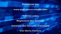 CIEL Devis Facture 2014 : Les factures d'acompte et règlement client