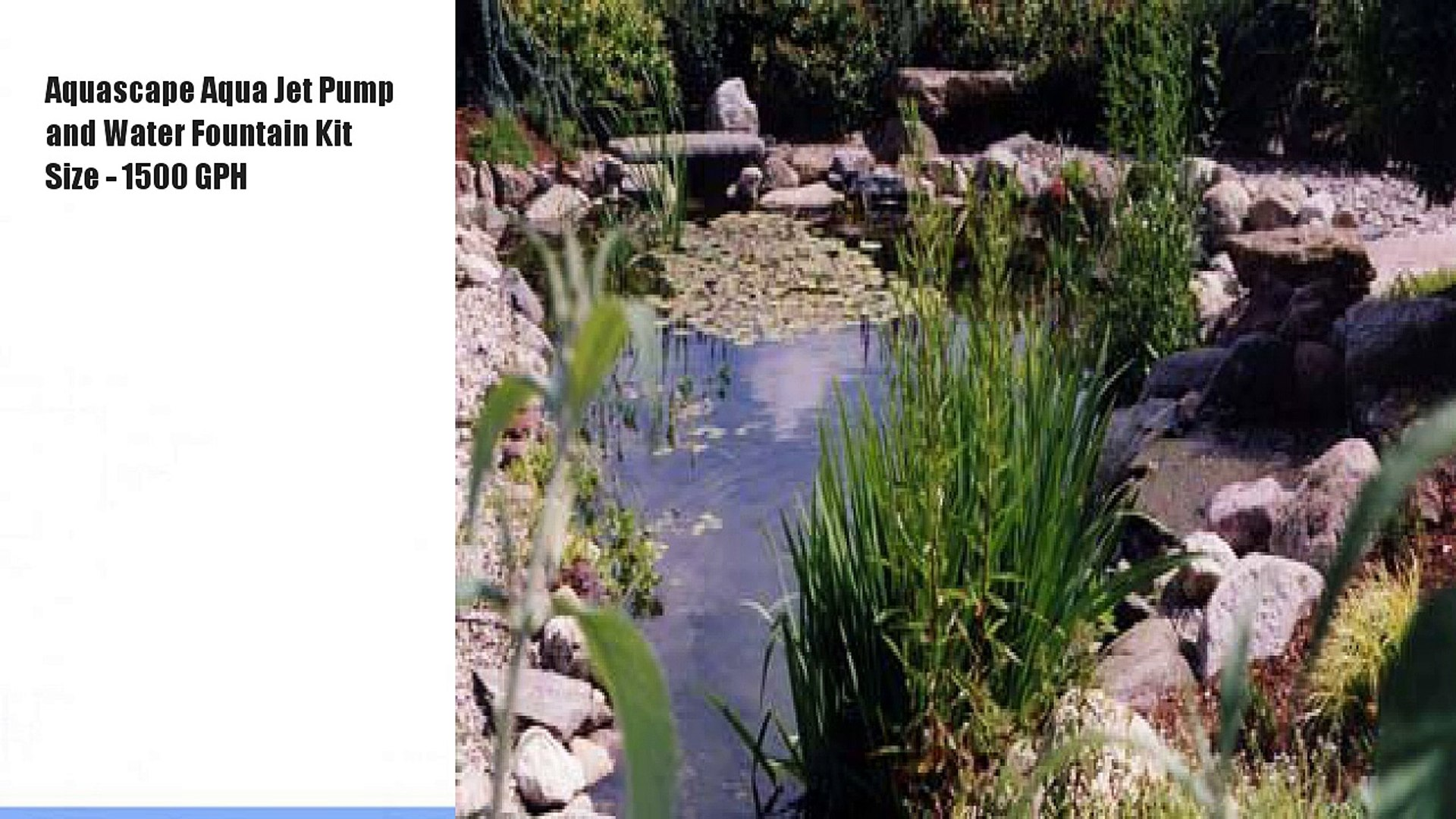 Aquascape Aqua Jet Pump And Water Fountain Kit Size Video Dailymotion