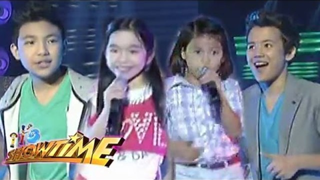 Lyca, Darren, Darlene & Juan Karlos perform 'Happy' on It's Showtime