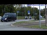 Konvoi Papst Benedikt XVI. in Erfurt (Probe) Teil 2/3