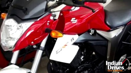 Suzuki Gixxer In Dual-Tone Of Red-White Spotted: Launch Soon