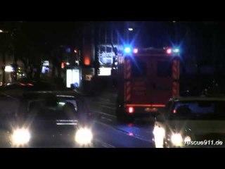 RTW BF Düsseldorf FW 1 bei Nacht