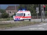 RTW MHD 5/83-5 (Wiesloch) + RTW DRK RN 5/83-1 (Wiesloch) & RN 2/83-4 in Heidelberg