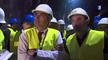 Lyon-Turin visite du chantier du tunnel à Saint-Martin-la-Porte - 06052015 - FR3 GRAND LYON
