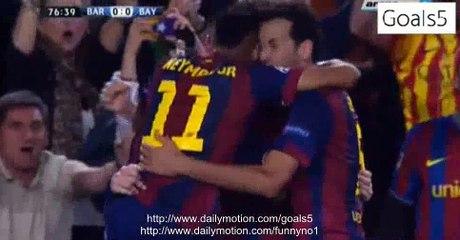 Lionel Messi Goal Barcelona 1 - 0 Bayern Champions League 6-5-2015