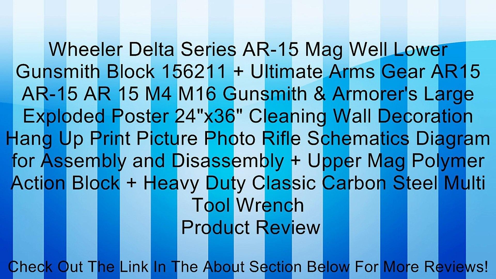 Wheeler Delta Series AR-15 Mag Well Lower Gunsmith Block 156211 + Ultimate Arms Gear AR15 AR-15 AR 1