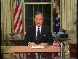 George H W Bush Announces War Against Iraq (January 16 1991)
