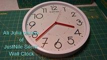 JustNile Silent Non Ticking Modern Wall Clock