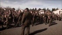 New Zealand Infantry performs maori haka for fallen comrades