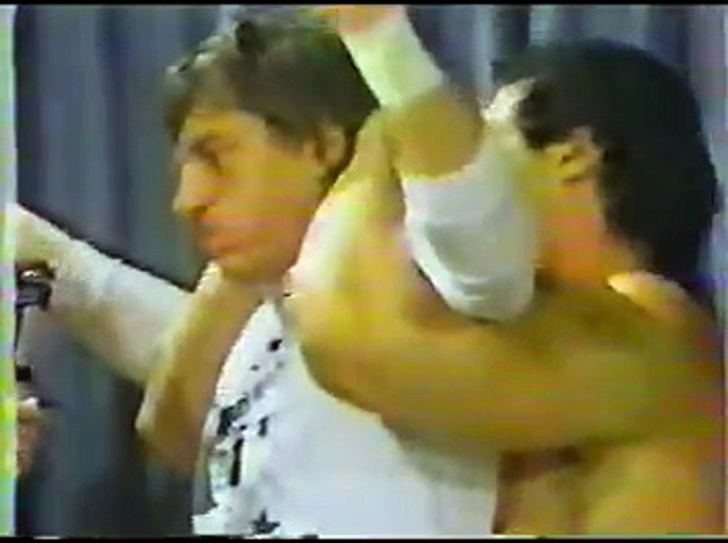 Rowdy Roddy Piper confronts The Grappler and Styles