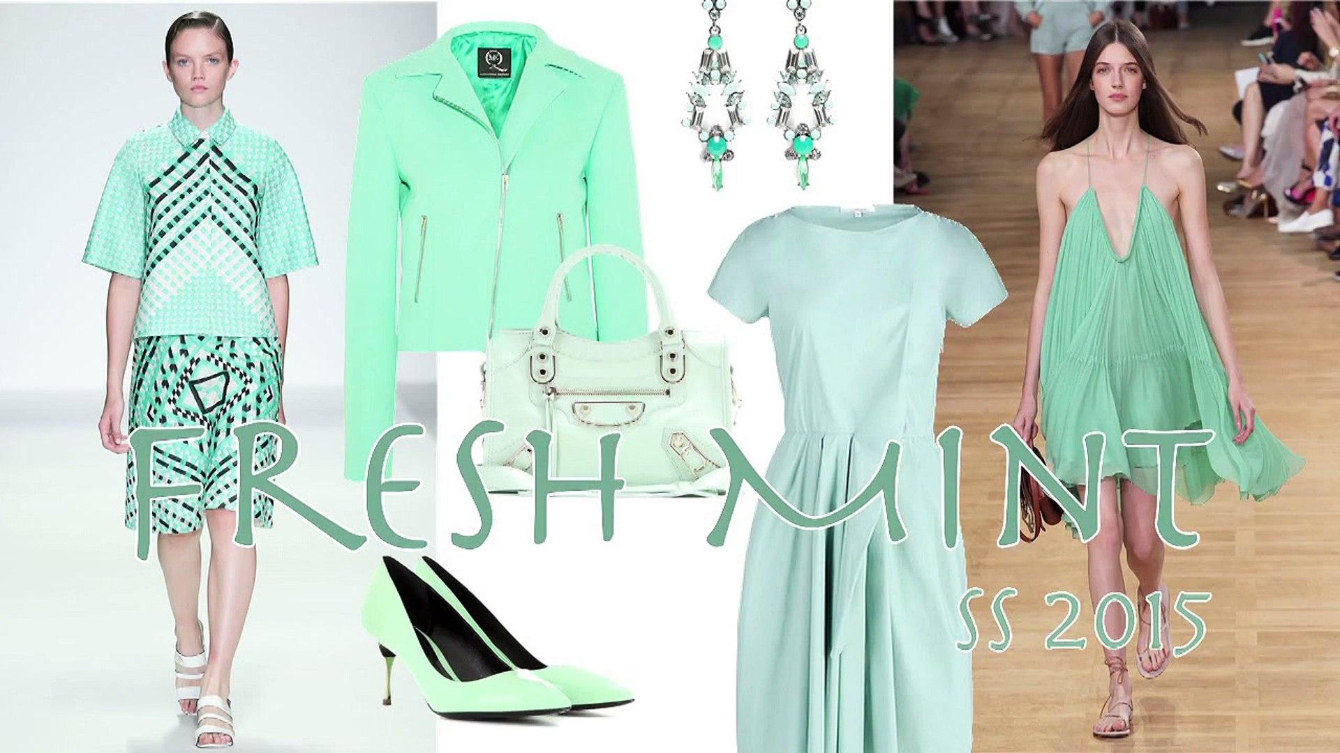 FRESH MINT Fashion Trend Spring 2015 by Fashion Channel