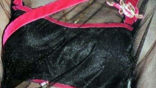 Nivisha hot Navel show in Black Transparent saree - video ...