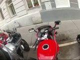 Go Pro HD Hero 2 - Vienna City driving - lucky day with police / Kawasaki GPZ 500s