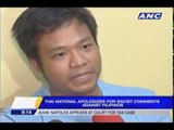 Thai who insulted Pinoys hopes to return to PH